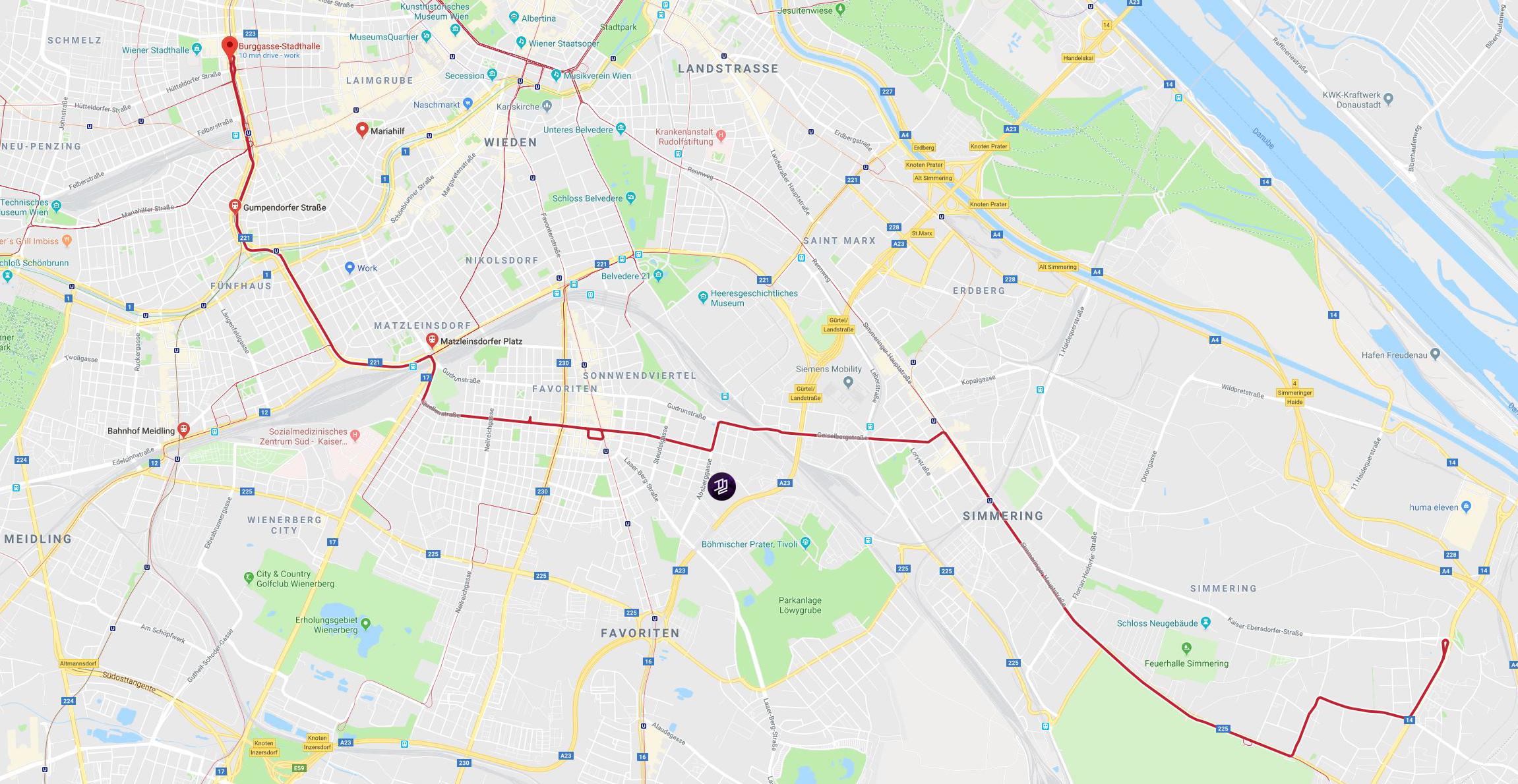 Number 6 tram line map